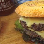 beef and blue cheese burgers