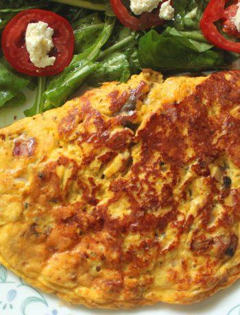 Ham and Mushroom Omelet