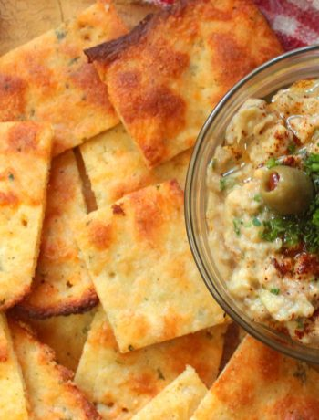 Keto Fathead Crackers & Baba Ganoush