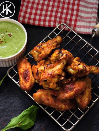 Keto Saag Chicken Wings