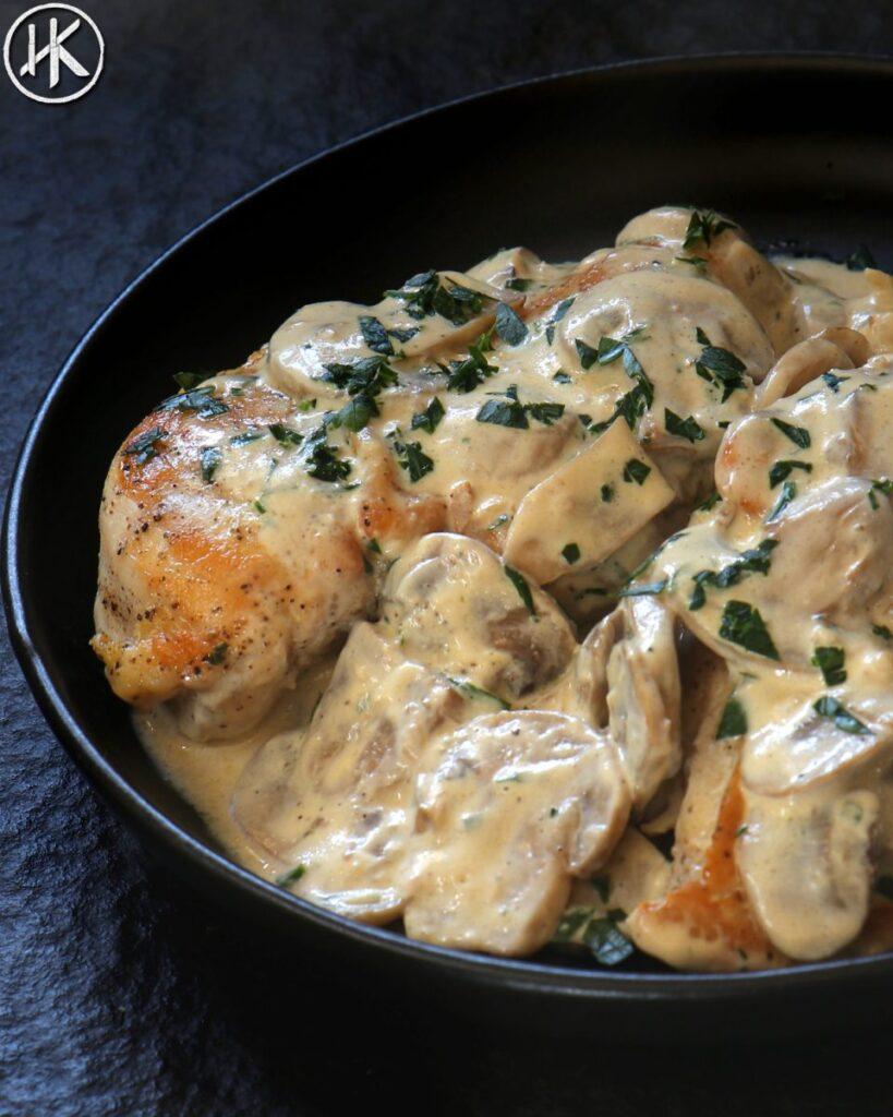 5 ingredient keto chicken alfredo