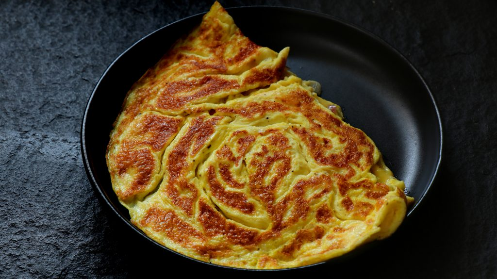 Keto Sour cream and onion omelet