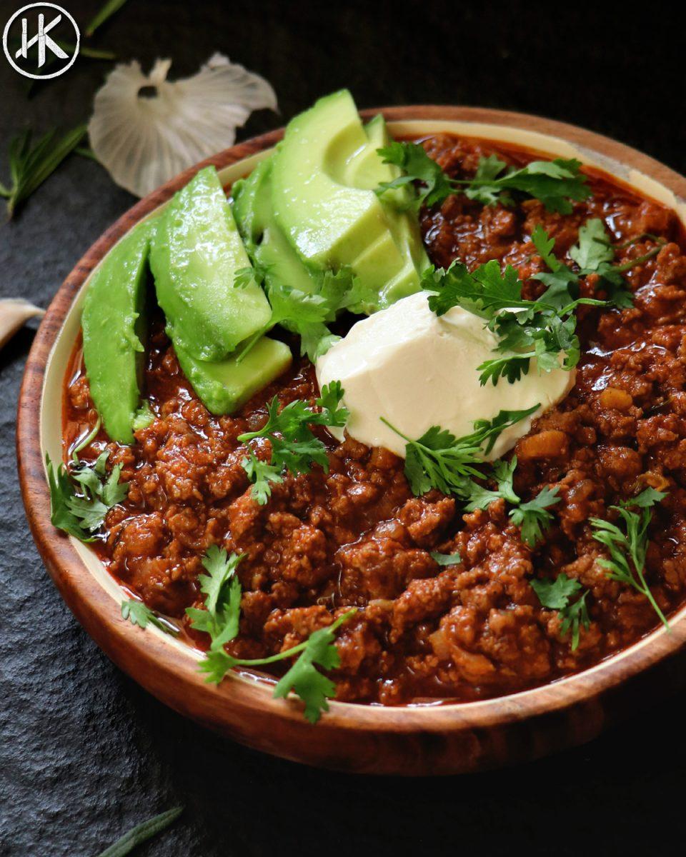 The Best Keto Chili No Bean Chili Headbanger S Kitchen Keto All The Way