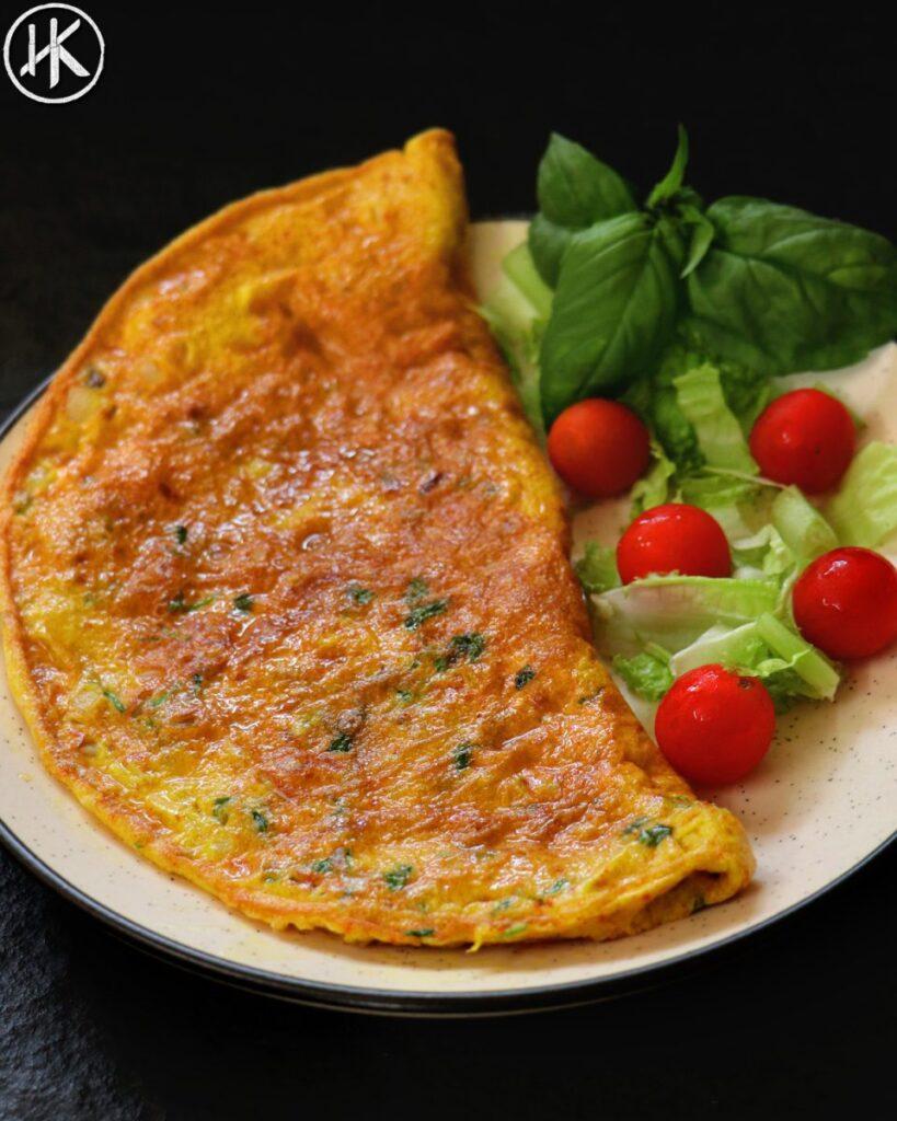 Keto omelet indian masala omelet