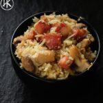 Keto bacon and mushroom fried rice