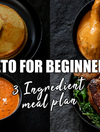 3 Ingredient Keto meal plan