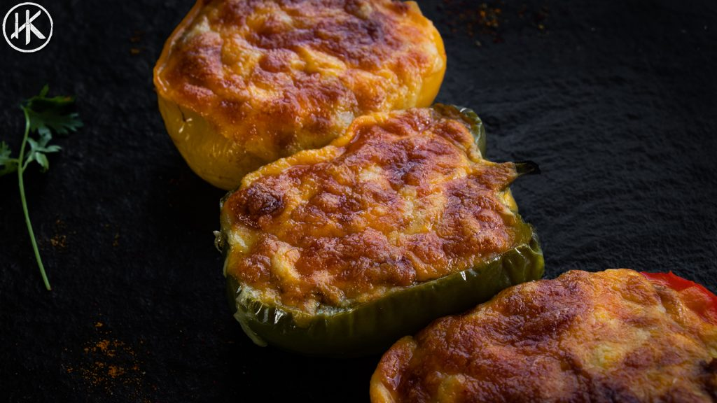 a photo of stuffed bell peppers